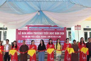 Học sinh bản nghèo đón công trình trường học trị giá 551 triệu đồng