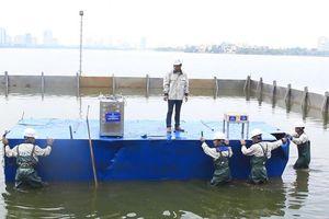 Hồ Tây giảm mùi hôi tanh nhờ công nghệ Nhật Bản