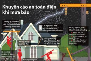 Những khuyến cáo an toàn điện trong mùa mưa bão
