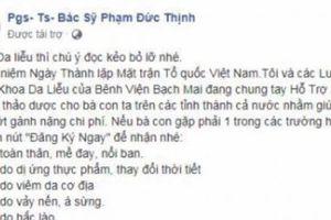 Giả mạo nhân viên Khoa Da liễu BV Bạch Mai để lừa đảo người bệnh