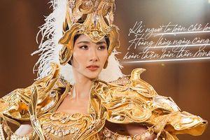 Ê-kíp tiết lộ: 'Hoàng Thùy cặm cụi may vá xả tress, trốn mạng xã hội vì áp lực thi Miss Universe'