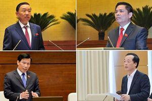 Quốc hội chất vấn Thủ tướng và bốn 'tư lệnh ngành'