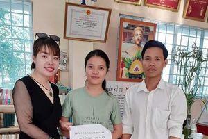 Nữ sinh Võ Thị Thúy An gửi lời cảm ơn đến Báo điện tử Giáo dục Việt Nam