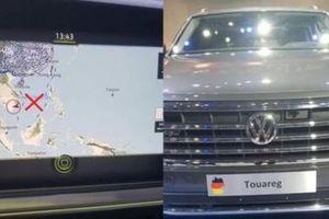 Ô tô Volkswagen nhập khẩu có thông tin vi phạm chủ quyền bị tịch thu
