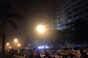 Kịp thời khống chế đám cháy chung cư tại thành phố Vinh