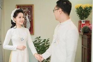 BTV Thời sự Thu Hà trong lễ ăn hỏi: Chuẩn cô dâu Việt truyền thống