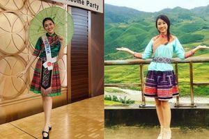 Mặc váy thổ cẩm: Tường San nhí nhảnh, Đỗ Mỹ Linh trong trẻo nhưng H'Hen Niê mới thật ấn tượng