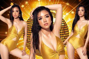 Á hậu Thúy An khoe body hút mắt, xuất hiện nổi bật trên trang chủ Miss Intercontinental