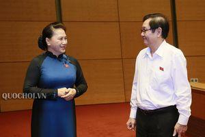 Hình ảnh bên lề phiên chất vấn và trả lời chất vấn Bộ trưởng Nguyễn Xuân cường
