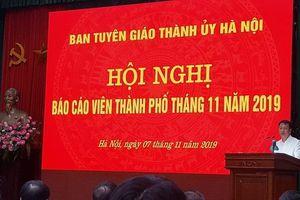 Hội nghị báo cáo viên thành phố Hà Nội tháng 11-2019