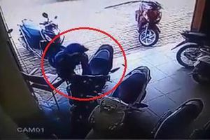 Camera ghi cảnh trộm xe ở TP.HCM