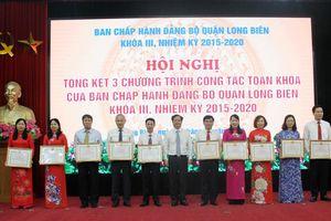 3 chương trình công tác lớn của Quận ủy Long Biên mang lại hiệu quả thiết thực