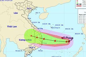 Bão số 6 giật cấp 15 cách đảo Song Tử Tây 180 km