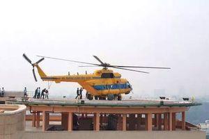 Trực thăng cấp cứu lần đầu đáp xuống nóc bệnh viện
