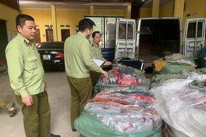Nhập lậu lượng lớn túi xách giả da do Trung Quốc sản xuất