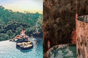 Khoe hình sống ảo tại Bali, vợ chồng đại gia Minh Nhựa khiến người sợ độ cao 'khóc thét' khi xem ảnh