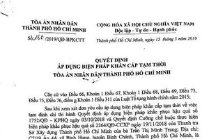 TPHCM: UBND xã Tân Quý Tây ban hành văn bản có dấu hiệu xâm hại hoạt động tư pháp