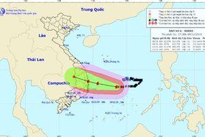 Bão số 6 giật cấp 14 cách bờ biển Quảng Ngãi - Khánh Hòa 450km