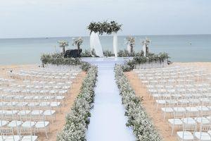 Không gian tiệc cưới trên bãi biển của Đông Nhi - Ông Cao Thắng