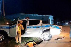 Lái xe tải say xỉn, tông thẳng vào xe chuyên dụng của CSGT