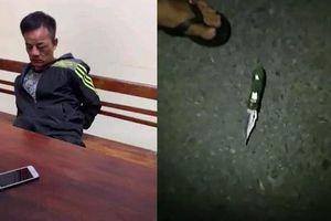 Bắt đối tượng dùng dao bấm khống chế thiếu nữ trong đêm