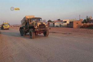 Trở lại Tal Tamr, quân đội Syria mang theo nhiều vũ khí hạng nặng