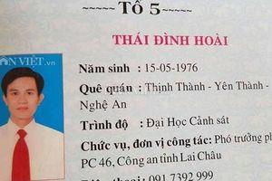 Bộ Công an nói về vụ Trưởng phòng Cảnh sát kinh tế Lai Châu dùng bằng giả