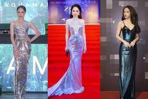 'Cô gái vàng' trong làng chuyên trị váy ánh kim đích thị là Hoa hậu Hương Giang