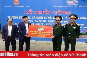 Viettel Thanh Hóa khởi công xây dựng trường tiểu học và trạm y tế tại huyện Bá Thước