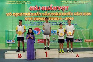 Bùi Hoàng Anh vô địch đơn nam U14 VTF Junior Tour 4-2019