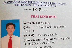 Lộ gia thế 'khủng' của Trưởng phòng Cảnh sát Kinh tế Lai Châu dùng bằng cấp 3 giả