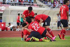 Lào chính thức giành vé dự VCK U19 châu Á sau chiến thắng hủy diệt