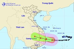 Bão số 6 ngay trên vùng biển các tỉnh Bình Định-Phú Yên-Khánh Hòa, gió giật cấp 13