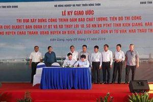 Kiên Giang thi công Dự án hệ thống cống Cái Lớn - Cái Bé hơn 3.300 tỷ đồng