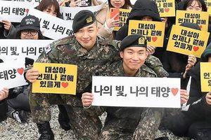 Hàng trăm fan chào đón hai thành viên của Big Bang xuất ngũ