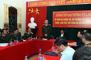 Bộ trưởng Công an Tô Lâm làm việc tại Điện Biên