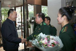 Thiếu tướng Phùng Quốc Tuấn đón tiếp đoàn đại biểu Cục Quản lý Di dân Quốc gia Trung Quốc