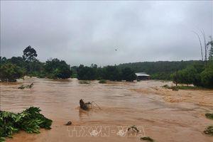 Lâm Đồng: Tìm kiếm nạn nhân bị lũ cuốn mất tích khi bơi qua sông