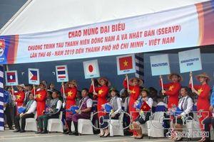 Tàu Thanh niên Đông Nam Á và Nhật Bản lần thứ 46 cập cảng TPHCM