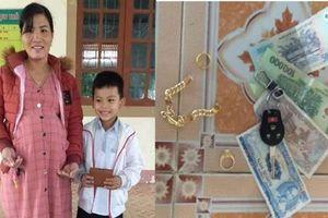 Hà Tĩnh: Nhặt được của rơi, nam sinh lớp 3 có hành động đẹp