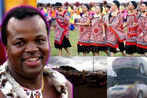 Quốc vương châu Phi mua 19 siêu xe Roll-Royces tặng 15 người vợ