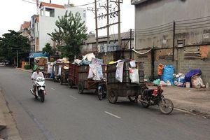 Tập kết rác gây cản trở giao thông, ô nhiễm