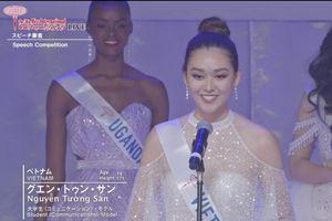 Phần thuyết trình ấn tượng của Tường San tại chung kết Hoa hậu Quốc tế 2019