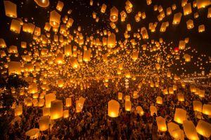 Thái Lan: Lung linh lễ hội thả đèn trời ở Chiang Mai
