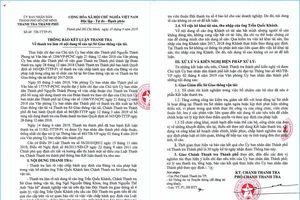 Tố cáo Chánh Thanh tra Sở 'bảo kê' doanh nghiệp không có cơ sở