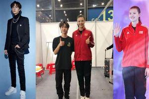 Vương Nhất Bác cao 1,8 m bỗng trở nên 'bé nhỏ' khi đứng cùng nữ vận động viên bóng chuyền