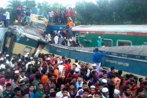 Bangladesh: Hai đoàn tàu đâm nhau, 55 người thương vong
