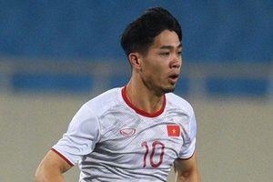 Công Phượng đua tốc độ với đồng đội trước trận gặp UAE