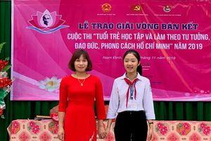Hai cô trò cùng đoạt giải cuộc thi Học và làm theo Bác