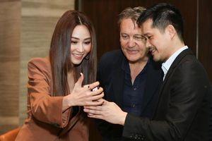 Ngân Khánh đẹp sang chảnh trong lần hiếm hoi xuất hiện cùng chồng doanh nhân